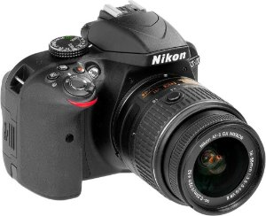Câmera Digital Nikon D3300 Wi-Fi 24.2MP Vídeo Full HD + Kit Lente 18-55mm VR