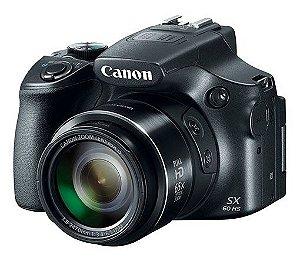 Câmera Digital Canon Powershot SX60 HS Wi-Fi 16.1MP Zoom Óptico 65X Vídeo Full HD