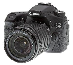 Câmera Digital Canon EOS 70D 20.2MP Vídeo Full HD + Kit Lente 18-135mm IS STM