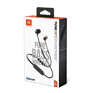 Fone de Ouvido Intra-auricular Bluetooth com Microfone JBL Tune 115BT Preto