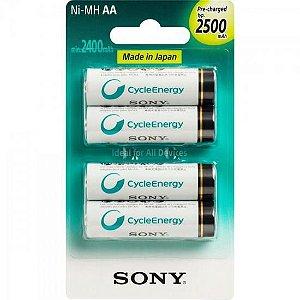 Pack com 4 Pilhas Sony Tipo AA 2500mAh