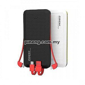 Carregador Portátil Pineng PN-957 Preto Slim 3 Saídas 10000mAh USB