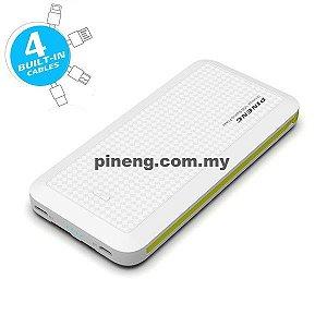 Carregador Portátil Pineng PN-957 Branco Slim 3 Saídas 10000mAh USB