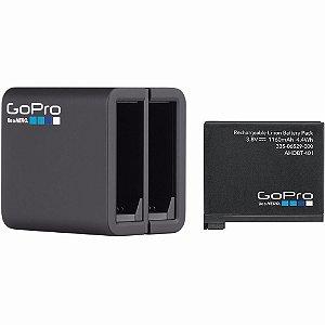 Carregador de Bateria Duplo GoPro AHBBP-401 + Bateria GoPro AHDBT-401 para Hero4