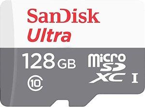 Cartão MicroSDXC Sandisk 128GB Classe 10 Ultra 100MB/s