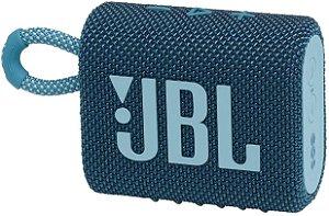 Caixa de Som Portátil Bluetooth JBL GO 3 Azul