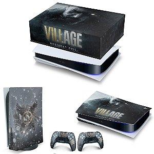 KIT PS5 Capa Anti Poeira e Skin - Resident Evil Village
