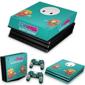 KIT PS4 Pro Skin e Capa Anti Poeira - Fall Guys