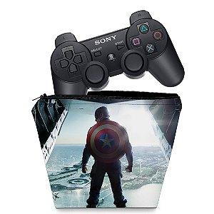 Capa PS3 Controle Case - Capitao America