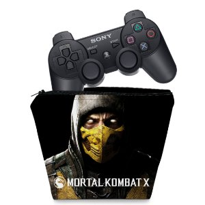 Capa PS3 Controle Case - Mortal Kombat X Scorpion