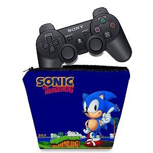 Capa PS3 Controle Case - Sonic Hedgehog