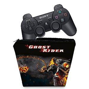 Capa PS3 Controle Case - Ghost Rider Motoqueiro #a