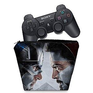 Capa PS3 Controle Case - Capitão America Guerra