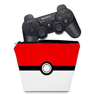 Capa PS3 Controle Case - Pokemon Pokebola