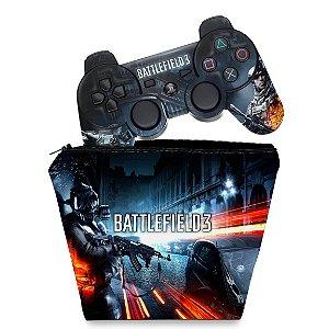KIT Capa Case e Skin PS3 Controle - Battlefield 3