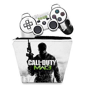 KIT Capa Case e Skin PS3 Controle - Modern Warfare Mw3