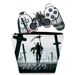 KIT Capa Case e Skin PS3 Controle - Ninja Gaiden