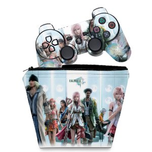 KIT Capa Case e Skin PS3 Controle - Final Fantasy Xiii #2