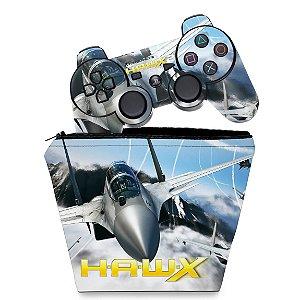KIT Capa Case e Skin PS3 Controle - Tom Clancys Hawx 2