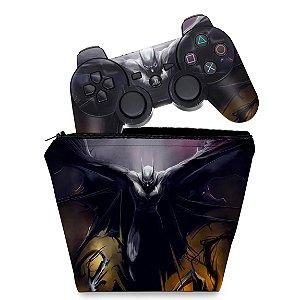 KIT Capa Case e Skin PS3 Controle - Batman