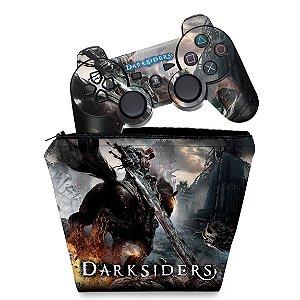 KIT Capa Case e Skin PS3 Controle - Darksiders