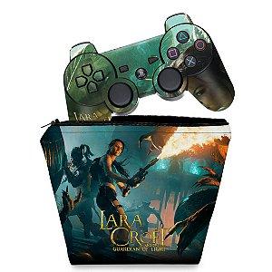 KIT Capa Case e Skin PS3 Controle - Lara Tomb Raider
