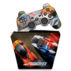 KIT Capa Case e Skin PS3 Controle - Need For Speed