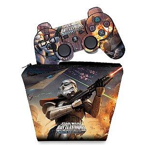 KIT Capa Case e Skin PS3 Controle - Star Wars