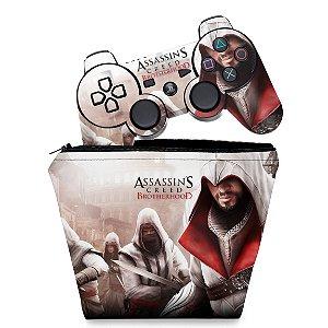 KIT Capa Case e Skin PS3 Controle -  Assassins Creed Brotherhood #A