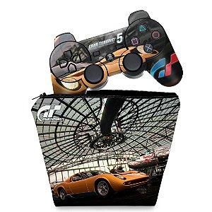 KIT Capa Case e Skin PS3 Controle - Gran Turismo 5 #2