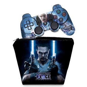 KIT Capa Case e Skin PS3 Controle - Star Wars Force