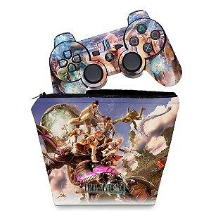 KIT Capa Case e Skin PS3 Controle - Final Fantasy Xiii