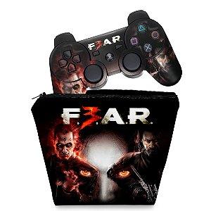 KIT Capa Case e Skin PS3 Controle - F3ar Fear 3