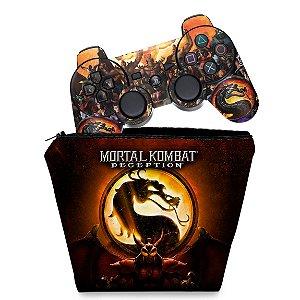 KIT Capa Case e Skin PS3 Controle - Mortal Kombat #b