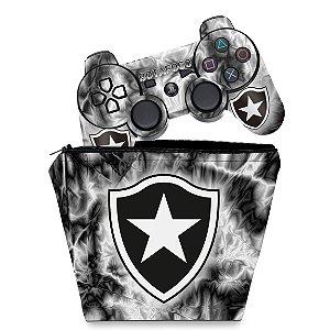 KIT Capa Case e Skin PS3 Controle - Botafogo