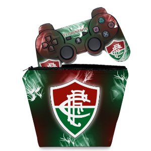 KIT Capa Case e Skin PS3 Controle - Fluminense