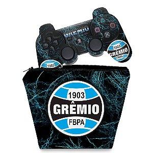 KIT Capa Case e Skin PS3 Controle - Gremio