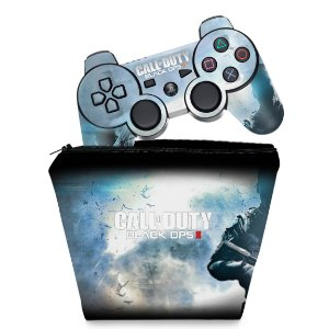 KIT Capa Case e Skin PS3 Controle - Call Duty Black Ops 2