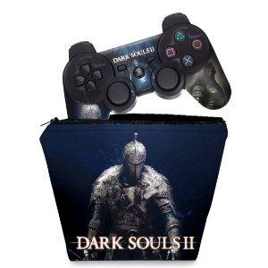 KIT Capa Case e Skin PS3 Controle - Dark Souls 2 Ii