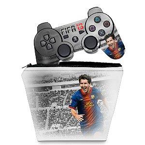 KIT Capa Case e Skin PS3 Controle - Fifa 2013 Futebol