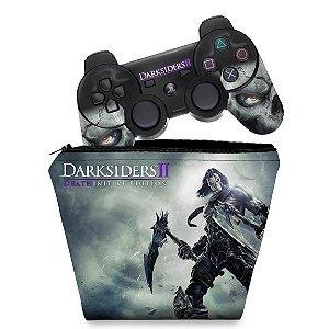 KIT Capa Case e Skin PS3 Controle - Darksiders 2 Ii