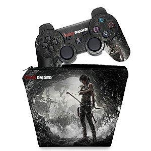KIT Capa Case e Skin PS3 Controle - Tomb Raider 3