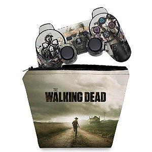 KIT Capa Case e Skin PS3 Controle - The Walking Dead #1