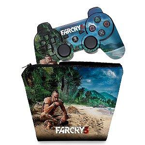 KIT Capa Case e Skin PS3 Controle - Far Cry 3