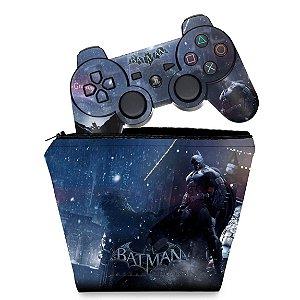 KIT Capa Case e Skin PS3 Controle - Batman Arkham Origins