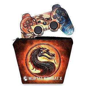 KIT Capa Case e Skin PS3 Controle - Mortal Kombat