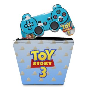 KIT Capa Case e Skin PS3 Controle - Toy Story