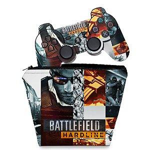 KIT Capa Case e Skin PS3 Controle - Battlefield Hardline