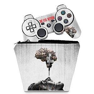 KIT Capa Case e Skin PS3 Controle - The Evil Within