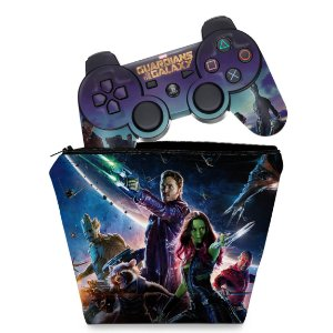 KIT Capa Case e Skin PS3 Controle - Guardiões Da Galaxia
